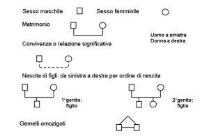 simboli genogramma